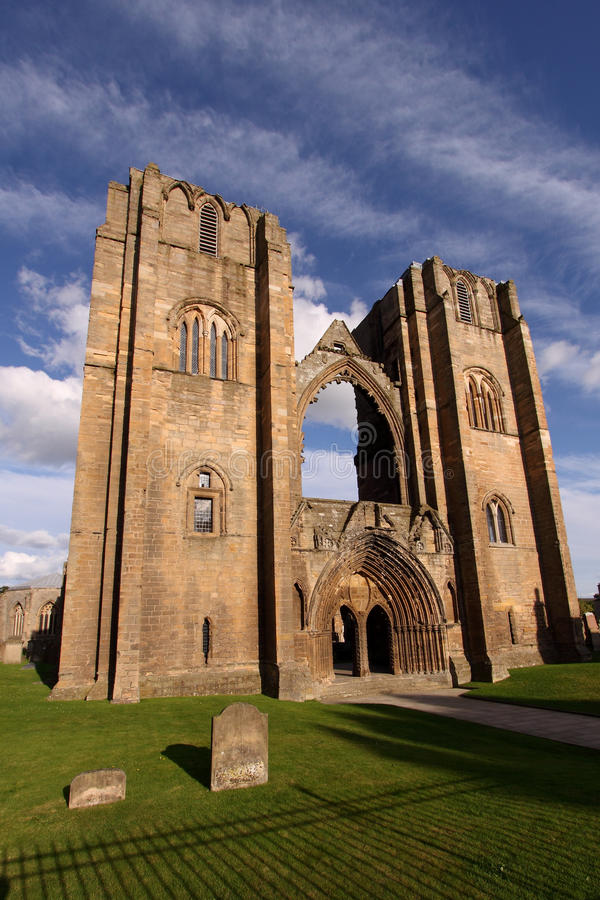 Elgin Cathedral Church stock images
