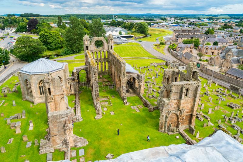 Elgin Cathedral, historic ruin in Elgin, Moray, north-east Scotland. royalty free stock photo