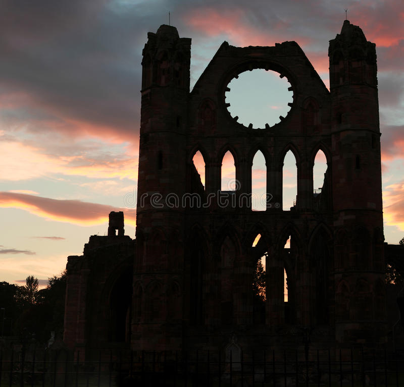 Elgin Cathedral stock image