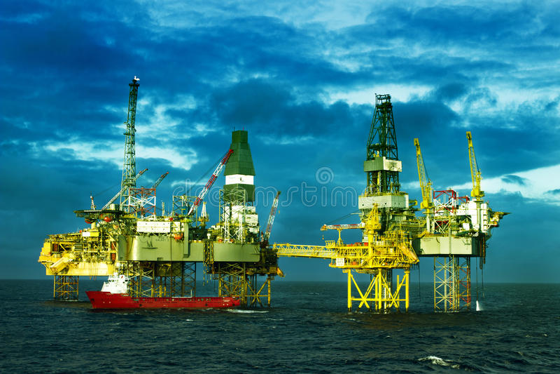 Elgin Gas Field North Sea fotografia stock