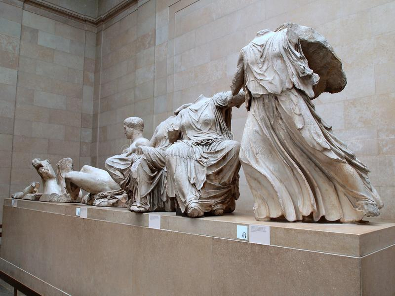 Elgin Marbles, British Museum, Londres, R-U image stock