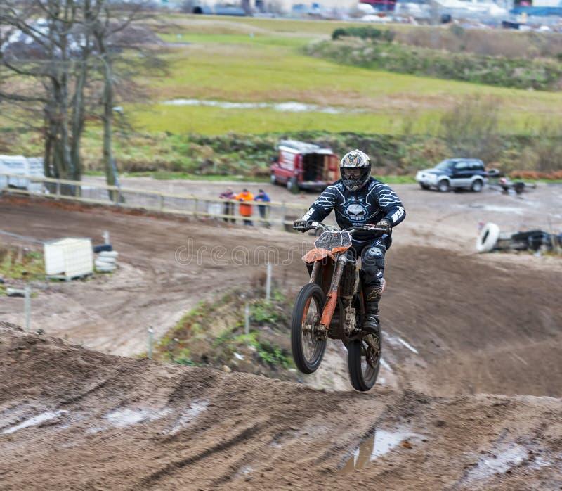 Elgin motocross practise. stock photos