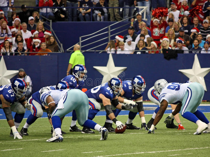 Download Eli Manning Calls Signals editorial stock image. Image of offense - 19135374