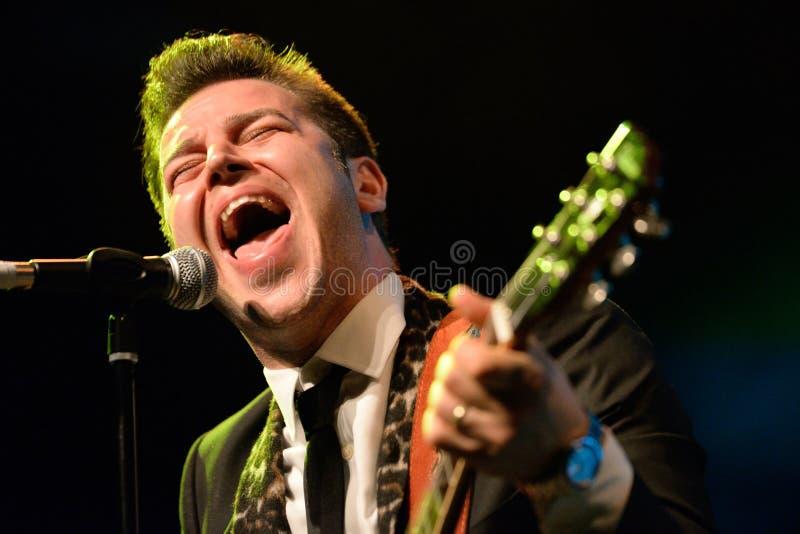 Eli Paperboy Reed, chanteur américain et compositeur, représentation à l'étape de Barts photo stock