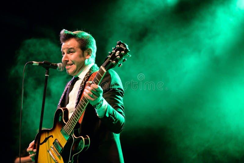 Eli Paperboy Reed, chanteur américain et compositeur, représentation à l'étape de Barts photo libre de droits