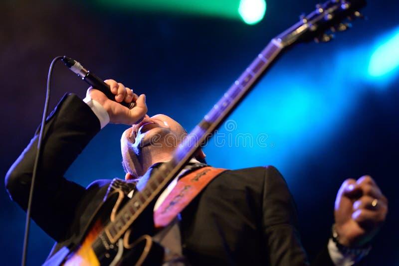 Eli Paperboy Reed, chanteur américain et compositeur, représentation à l'étape de Barts images stock