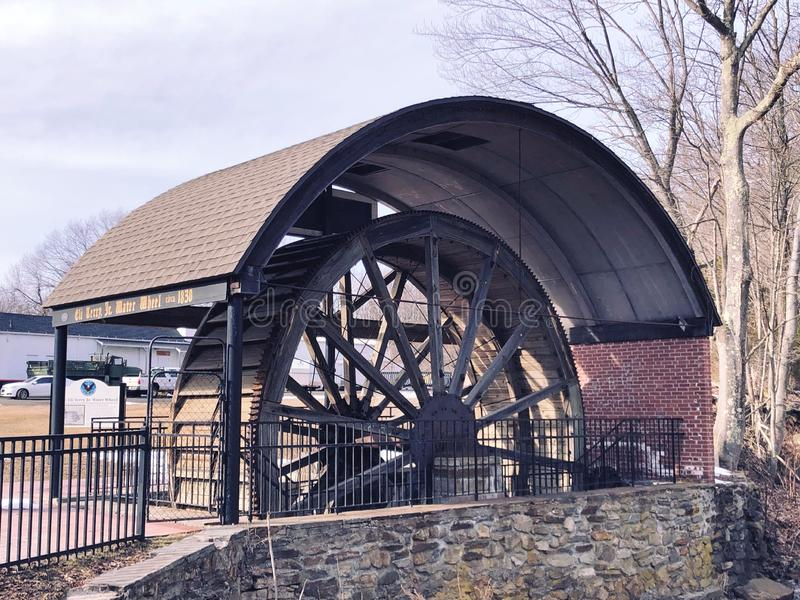 The Eli Terry Jr. Water Wheel stock photography