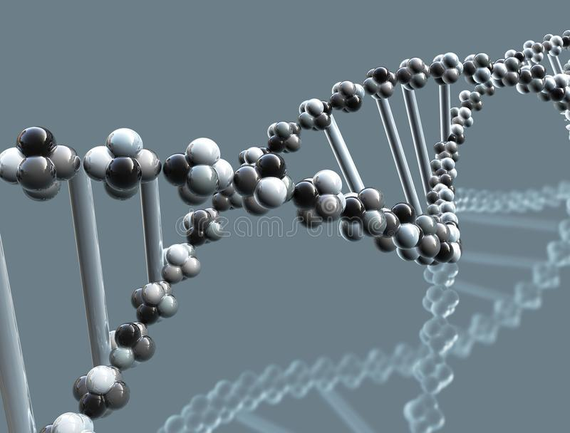 Elica del DNA - alto vicino illustrazione di stock