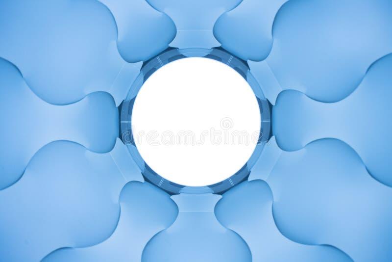 Elices blu astratti fotografia stock