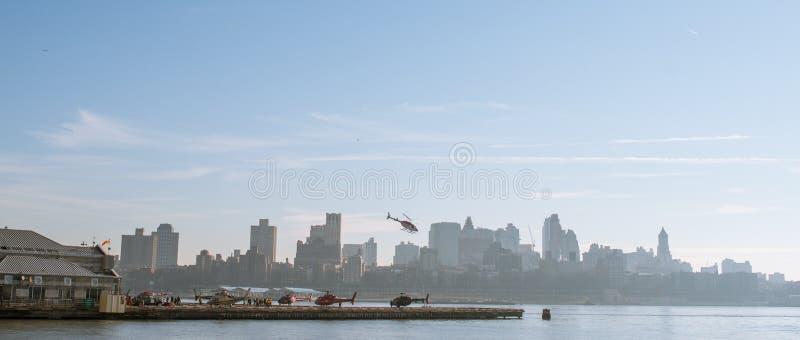 Elicotteri in New York fotografie stock