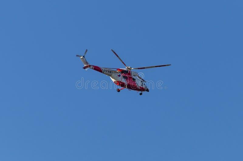 Elicottero ceco di salvataggio dell'aeronautica immagini stock libere da diritti