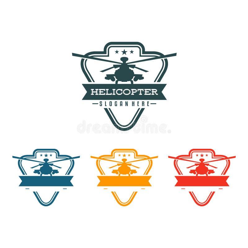Elicottero d'annata Chopper Flight in schermo Logo Symbol del triangolo royalty illustrazione gratis
