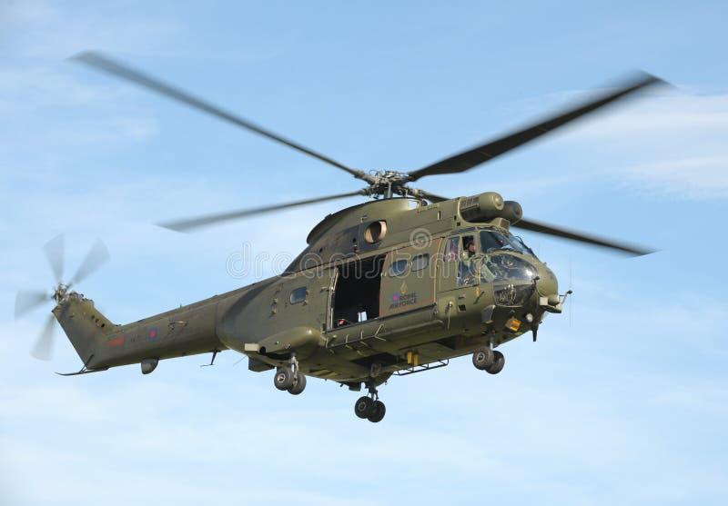 Elicottero del puma di RAF fotografie stock libere da diritti