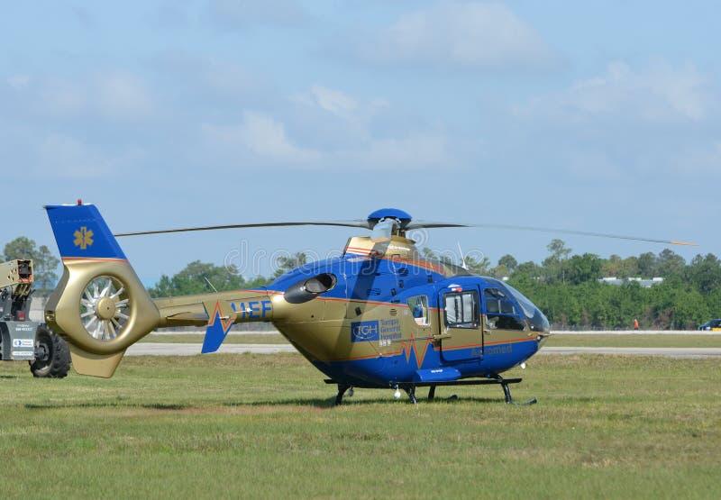 Elicottero dell'Ospedale Generale di Tampa fotografia stock