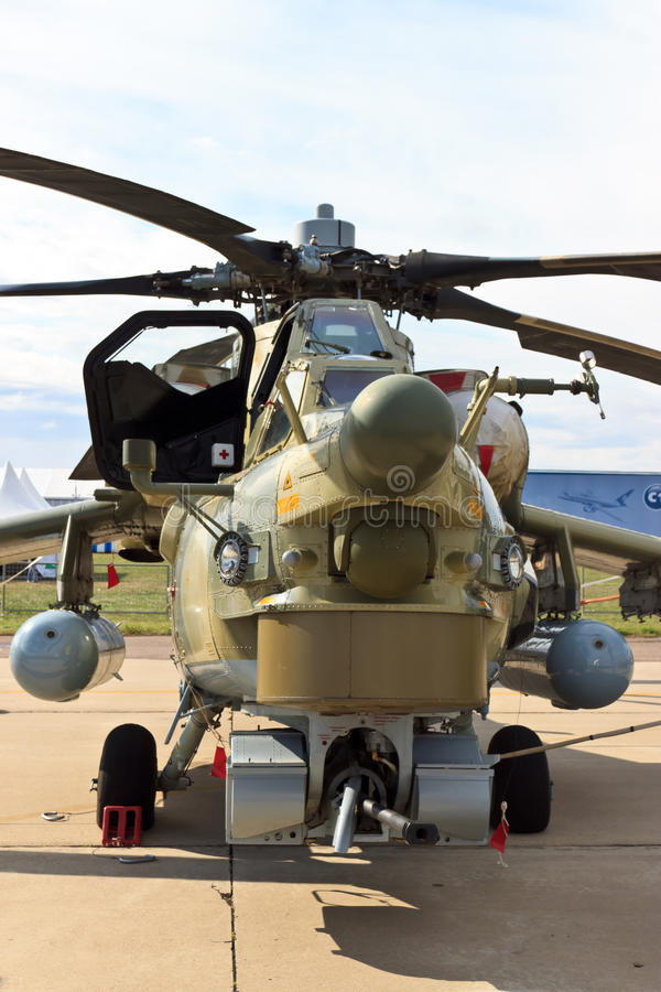 Elicottero di combattimento Mi-28N immagine stock