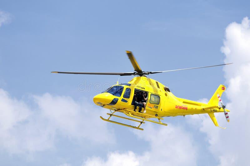 Elicottero di notizie fotografia stock