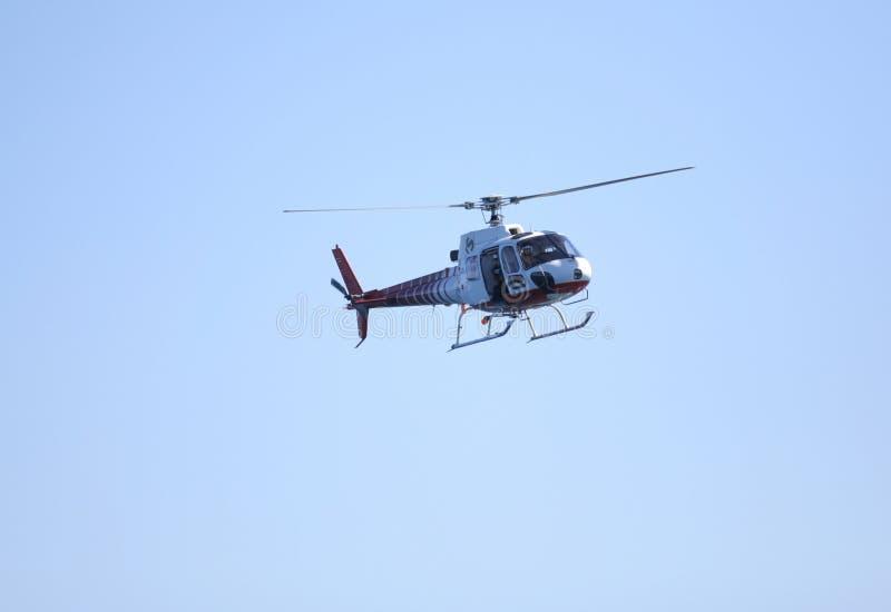 Elicottero di notizie fotografia stock libera da diritti