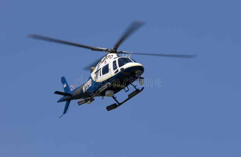 Elicottero di NYPD immagini stock libere da diritti