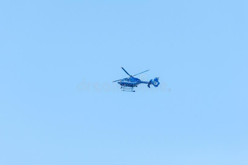 Elicottero di polizia tedesco di Bundespolizei fotografie stock