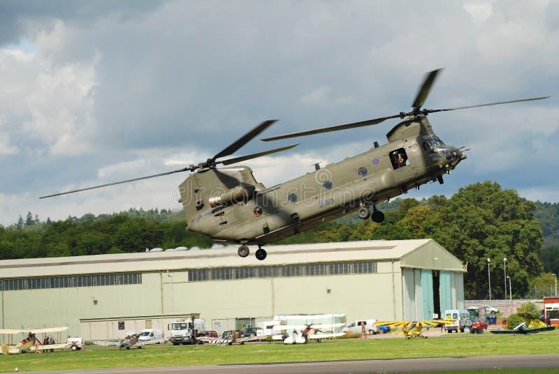 Elicottero di RAF Chinook fotografia stock libera da diritti