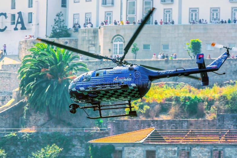 Elicottero di Red Bull TV immagine stock