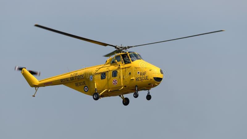 Elicottero di salvataggio del mare di RAF Whirlwind fotografie stock libere da diritti