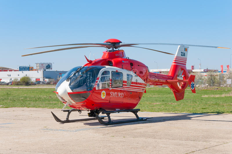 Elicottero di SMURD immagine stock