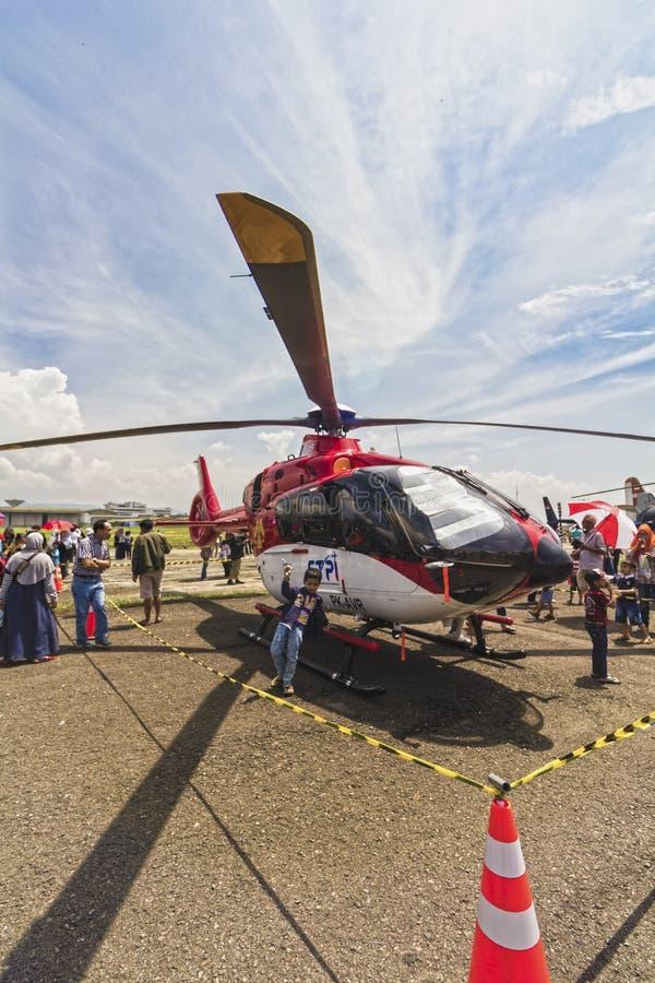 Elicottero esibito allo show aereo di bendaggio 2017 immagini stock libere da diritti