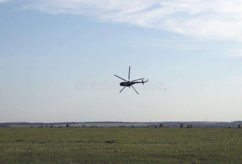Elicottero estremo di decollo fotografie stock libere da diritti