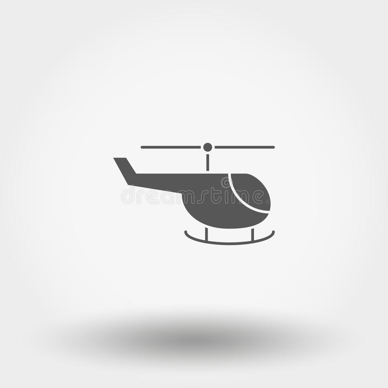 elicottero giocattolo icona Vettore Siluetta Progettazione piana royalty illustrazione gratis