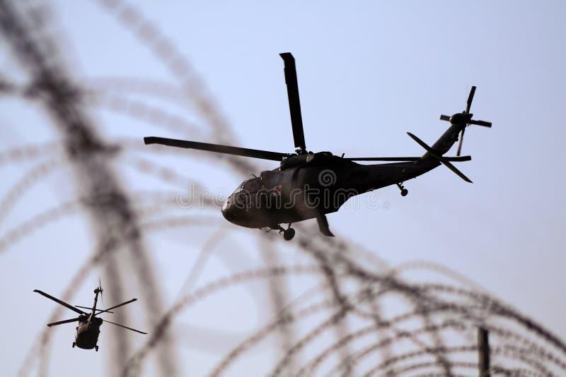 Elicottero medico dell'evacuamento nell'Iraq immagine stock