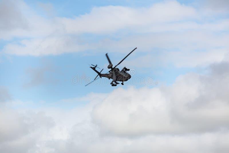 Elicottero militare di Apache immagini stock libere da diritti