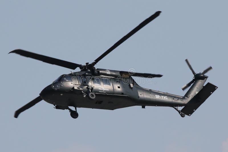 Elicottero militare Sikorsky Blackhawk S-70i fotografia stock