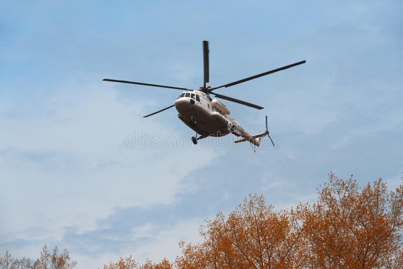 Elicottero militare ucraino Mi-8 immagine stock
