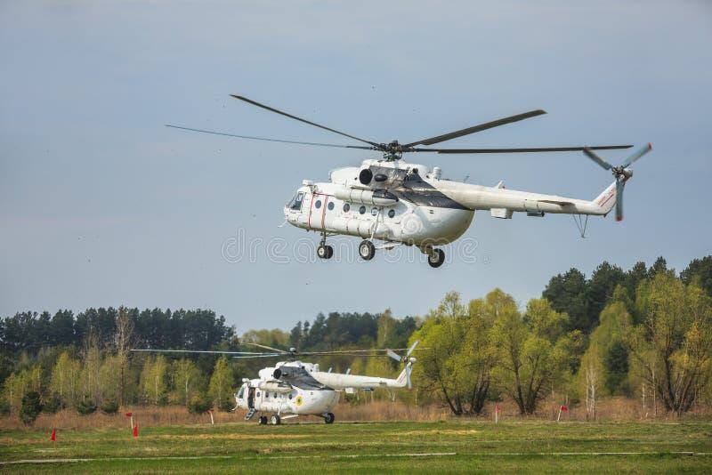 Elicottero militare ucraino Mi-8 fotografia stock