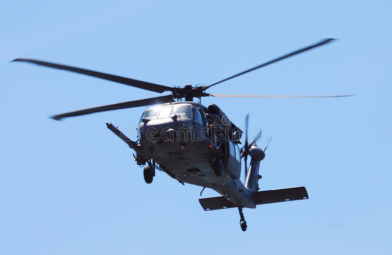 Elicottero nero del falco fotografia stock libera da diritti