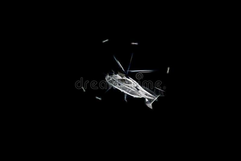 Elicottero stilizzato in volo illustrazione vettoriale