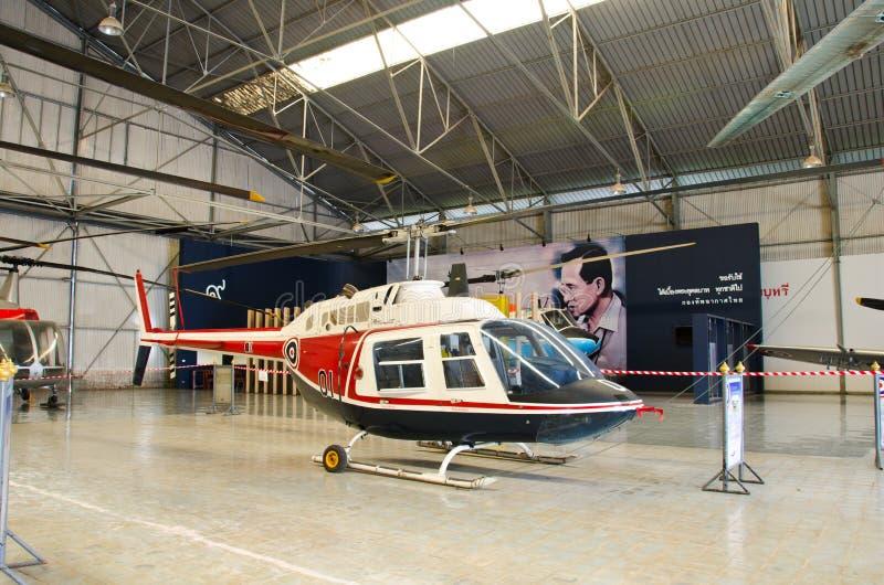 Elicottero sul museo tailandese reale dell'aeronautica immagini stock libere da diritti