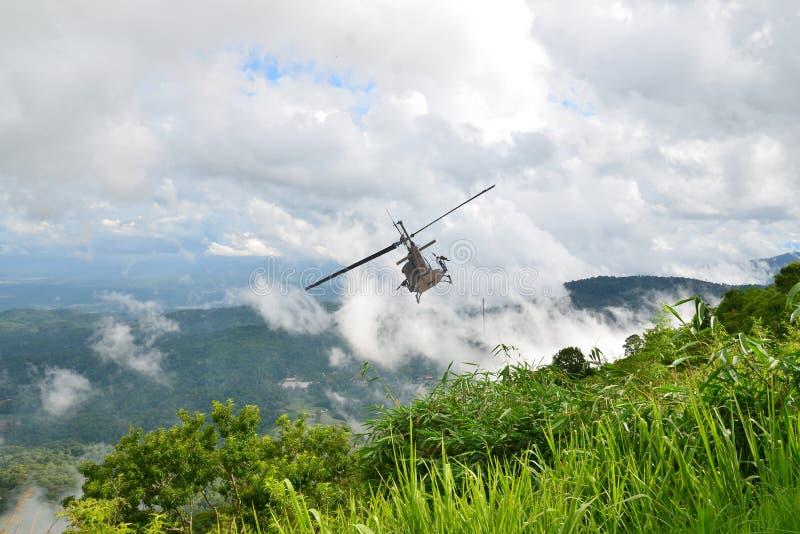 Elicottero tailandese dell'aeronautica immagini stock libere da diritti