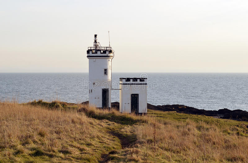 Elie Ness Lighthouse, Elie, Fife, Schotland royalty-vrije stock fotografie