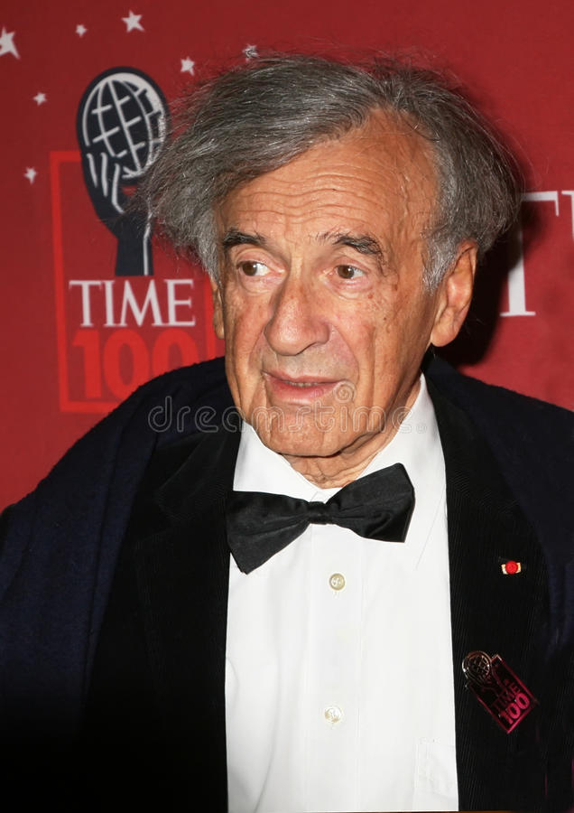 Elie Wiesel. Nobel Peace Prize winner Elie Wiesel arrives for the Time Magazine 100 Most Influential People gala in New York City; May 8, 2007 stock image