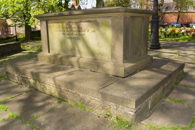Elihu Yale Grave imagen de archivo libre de regalías