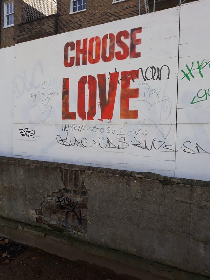 Elija la muestra del amor imagen de archivo