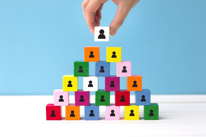 Elija a un nuevo líder del trabajo en equipo imagen de archivo libre de regalías