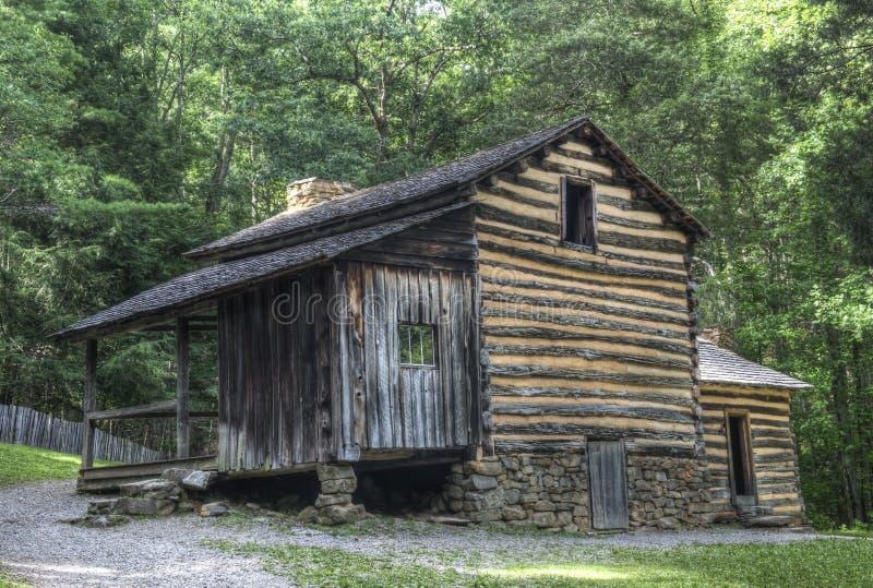 Elijah Oliver Log Cabin, parque nacional de Great Smoky Mountains foto de archivo