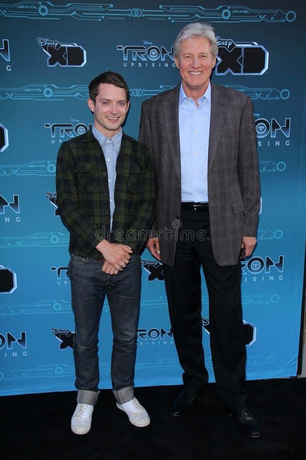 Elijah Wood, Bruce Boxleitner at Disney XD's stock photo