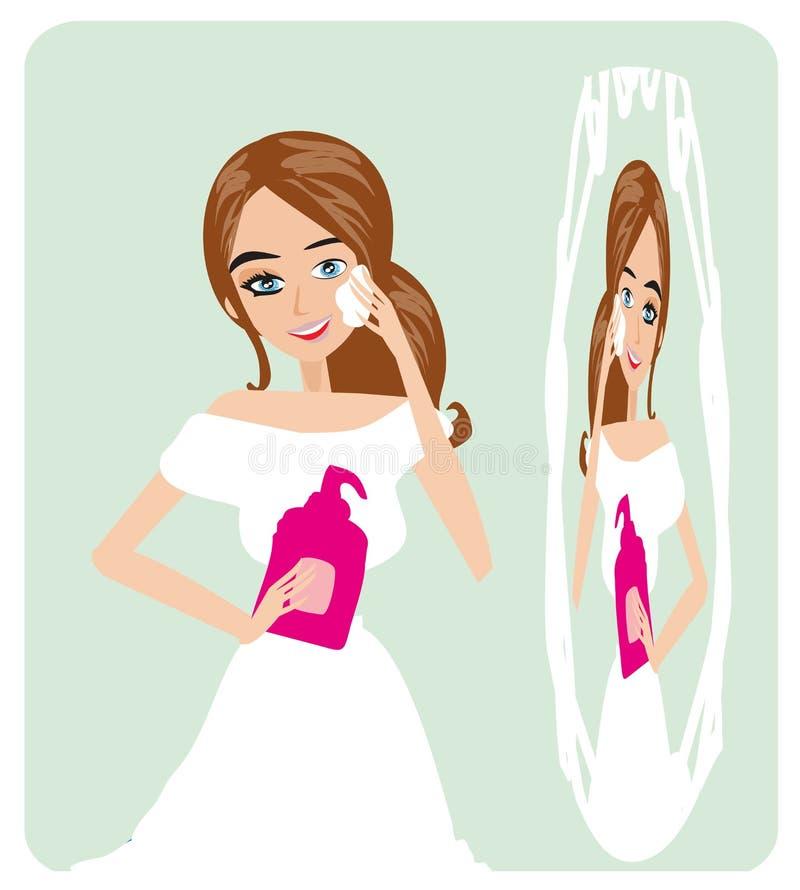 Eliminación Make up ilustración del vector