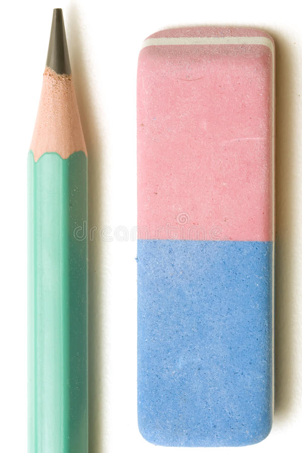 Eliminador e lápis imagens de stock royalty free