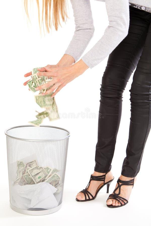 Eliminazione dei soldi immagini stock