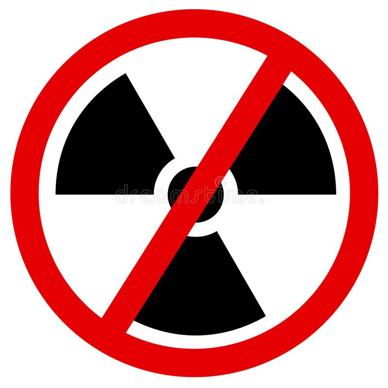 Elimine y discontinuación de la energía atómica y atómica libre illustration